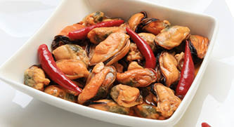 "Mussel meat ""spicy"""