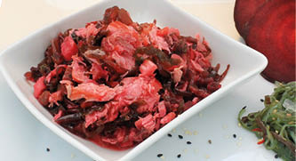 Pulled Lachs Algen-Rote Bete