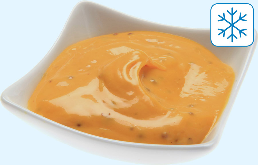 Orange-mustard dip, frozen