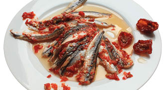 "Anchovy marinated ""Oriental"""